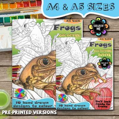 Frog Colouring Book
