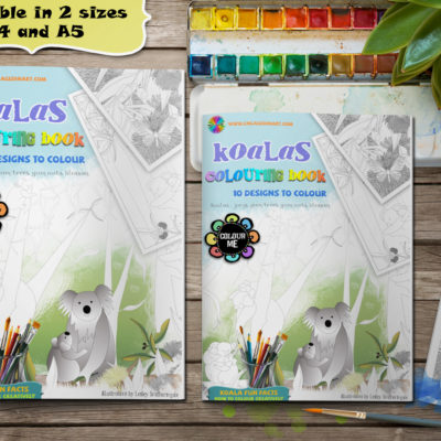 koalas colouring pages book
