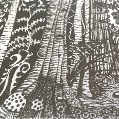 Online Art Classes – Creating Textures to Draw a Midnight Forest