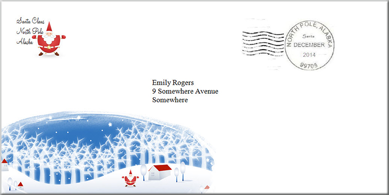 Printable North Pole Envelope | Search Results | Calendar 2015