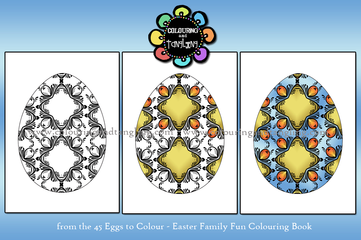 easter colouring pages 45 eggs to colour for the whole family