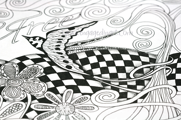 image relating to Zentangle Patterns Step by Step Printable identified as A Zentangle-influenced Art for Newbies - Engaged inside of Artwork