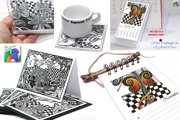zentangle-inspired products