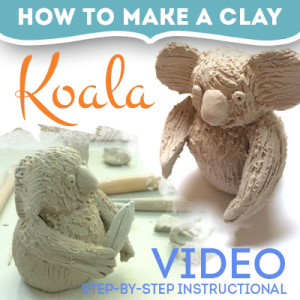 how to make a clay koala