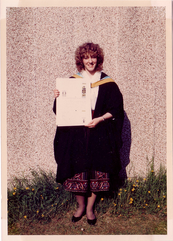 Lesley Graduating from Art School600