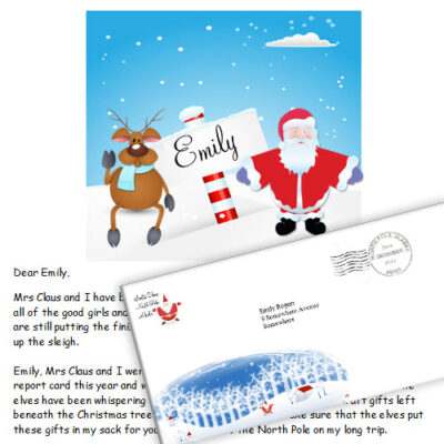 letter from santa printable at engaged in art