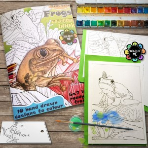 frogs colouring pages