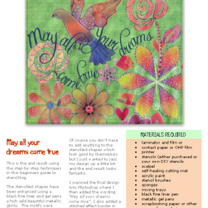 Stencilling using your own DIY stencils e-book at Engaged in Art