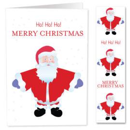 Free Christmas Printables – Santa Card – White