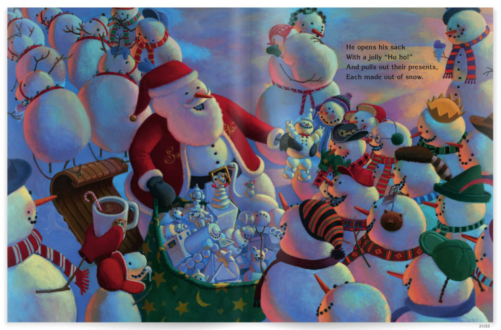 Snowmen At Christmas.Beautifully Illustrated Christmas Story Books Engaged In Art