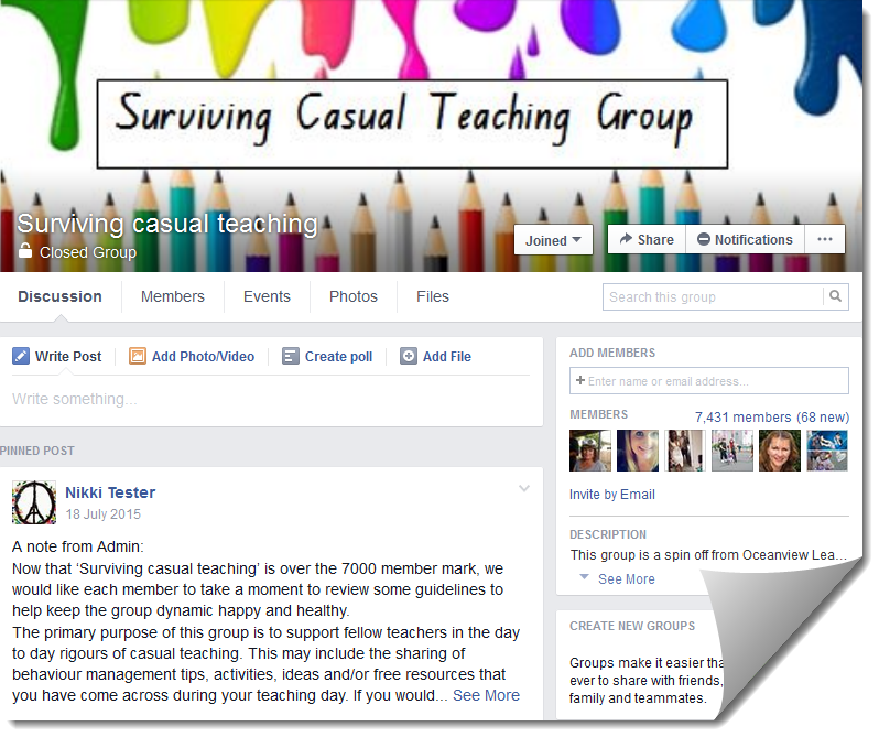 Surviving Casual Teaching on Facebook