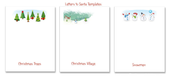 Three Designs - Letters to Santa