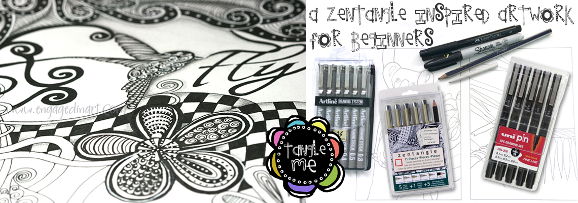 a zentangle-inspired artwork for beginners - engaged in art