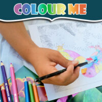 colouring pages for kids - engaged in art