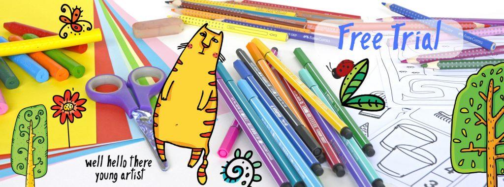 online art classes for kids, art club for kids, engaged in art online art classes