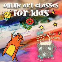 online art classes for kids, art club for kids, engaged in art online art classes
